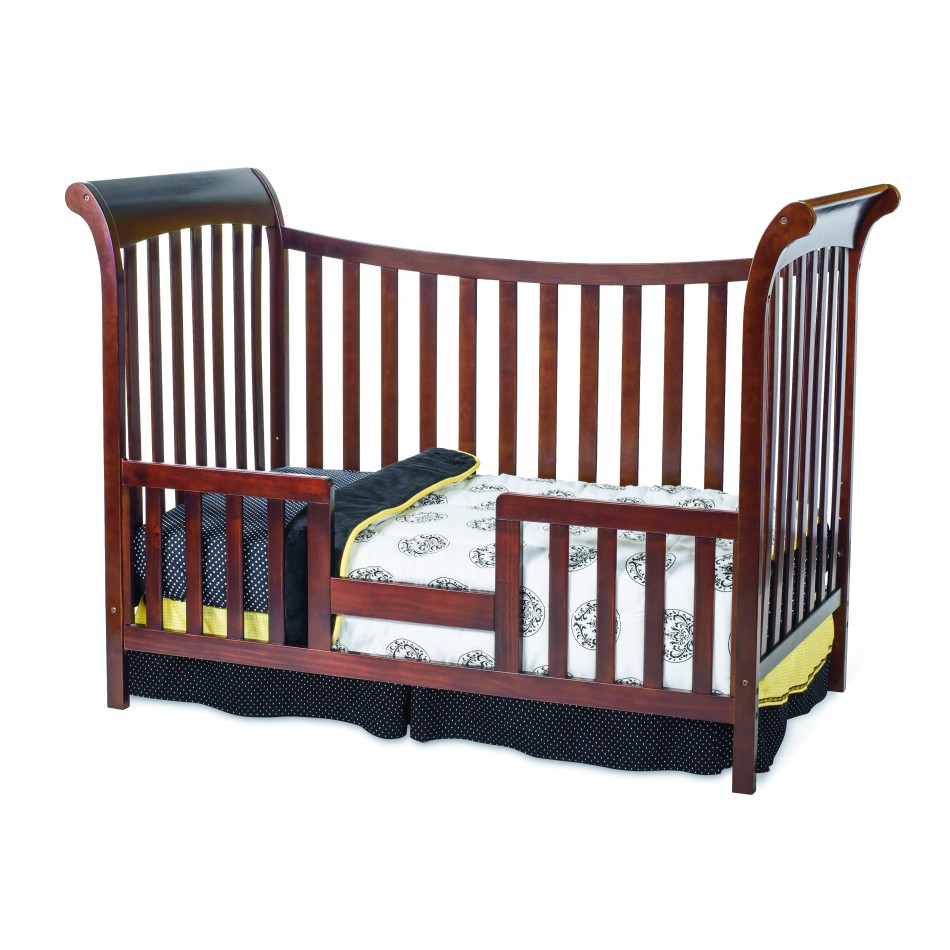 Baby Bed Mesurment : Coventry 3-in-1 Traditional Crib Select Cherry Toddler Bed