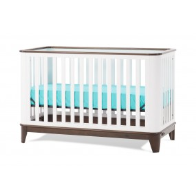 Studio 4-in-1 Convertible Crib - White/Slate