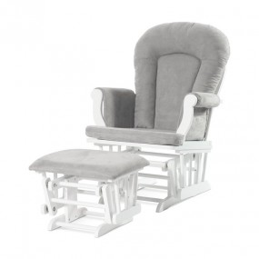 Forever Eclectic Cozy Glider and Ottoman, Matte White
