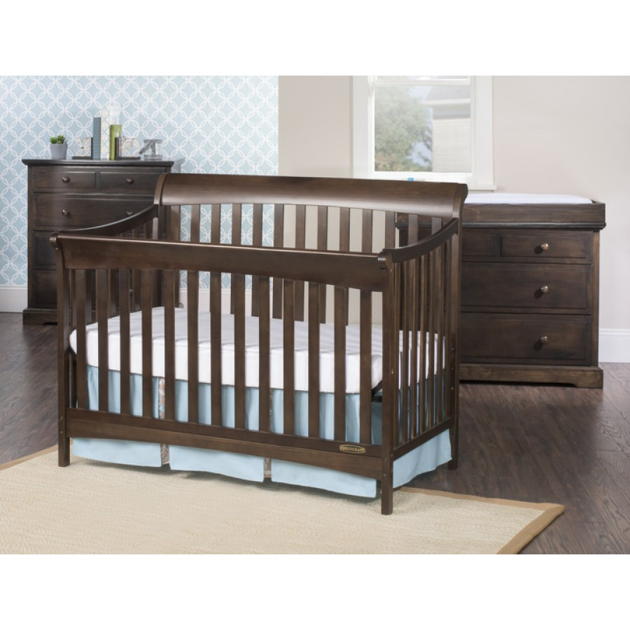 ashton full size 4 in 1 convertible crib child craft. Black Bedroom Furniture Sets. Home Design Ideas
