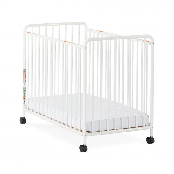 Child Craft Siesta Metal Non Folding Slatted Compact Crib Child Craft