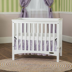 London Euro Mini Convertible Crib-White