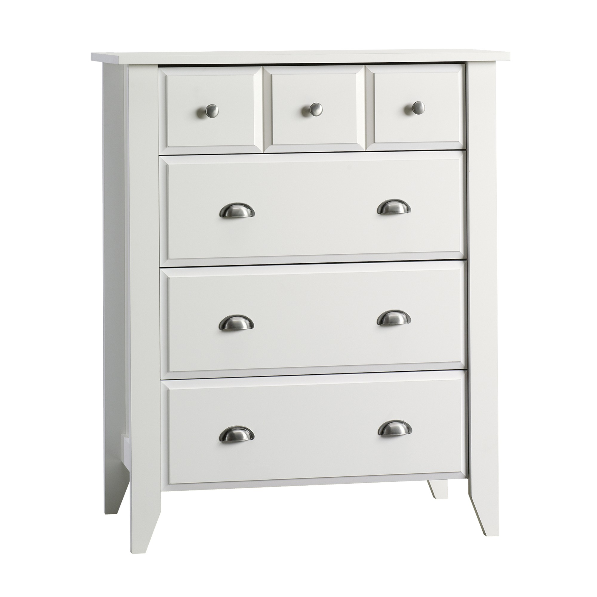 storage four furniture organizer drawer bedroom wood new white itm soft finish dresser