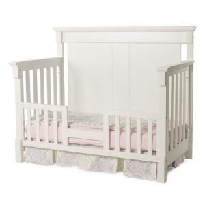 Bradford Full Size Convertible Toddler Bed-Matte White