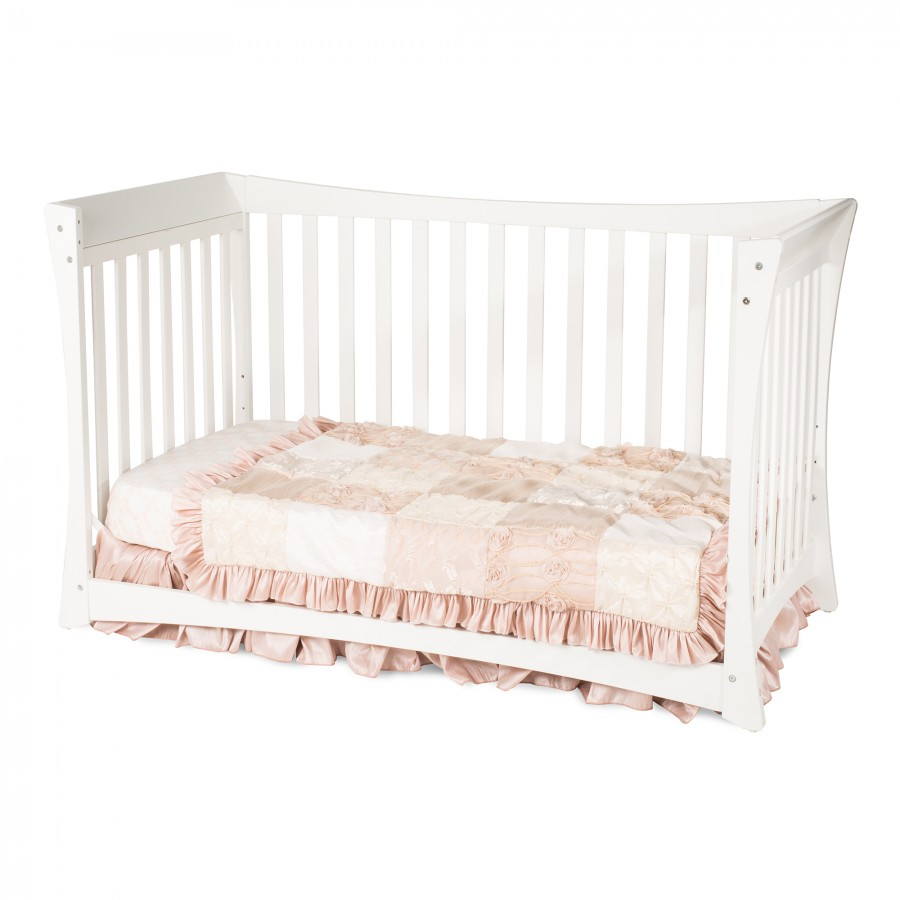 Parisian Traditional Child Craft Crib Matte White Day Bed