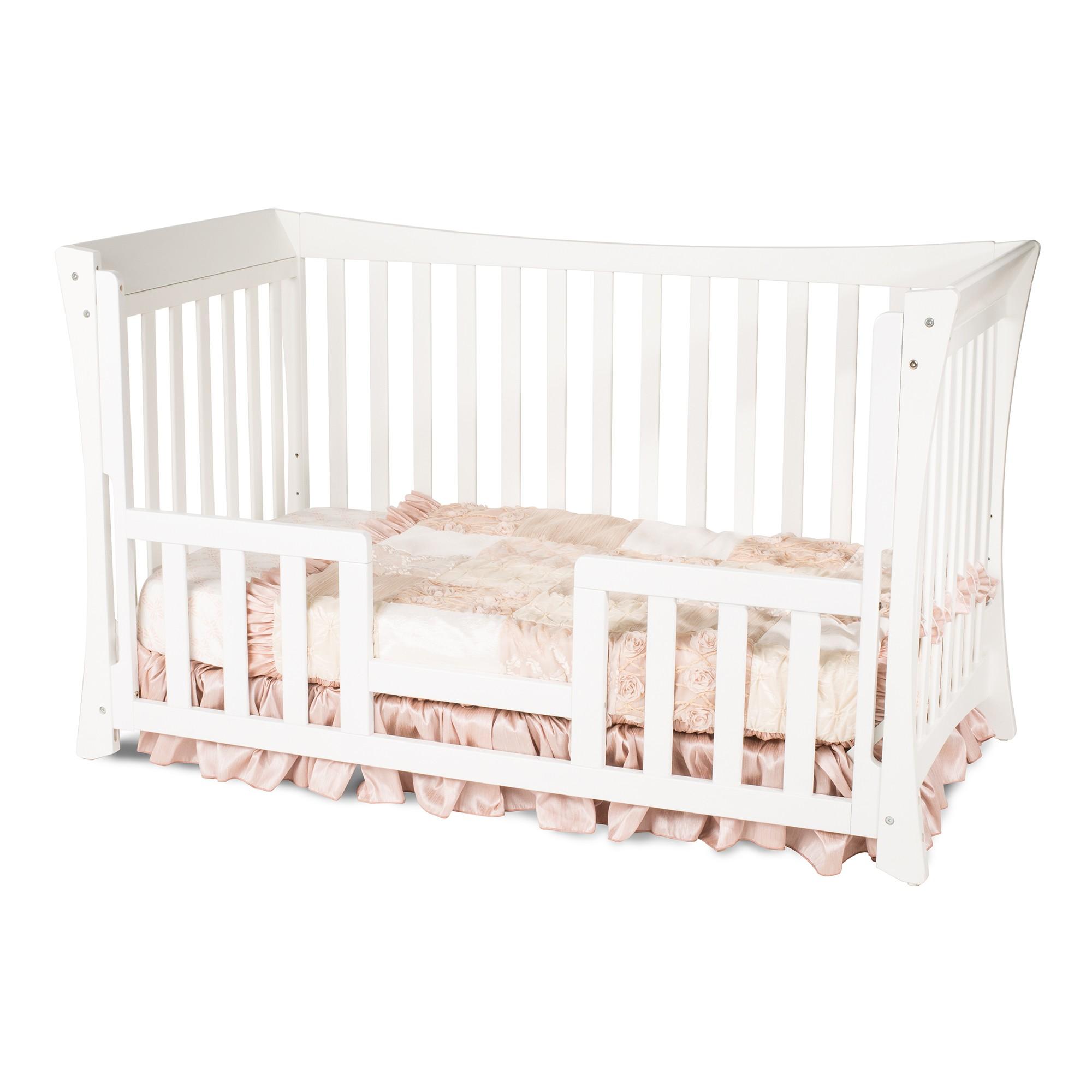 Child craft coventry crib -  Parisian Traditional Child Craft Crib Matte White Toddler Bed