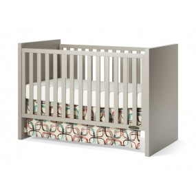 Loft 3-in-1 Convertible Crib Potters Clay Finish Toddler Bed Crib