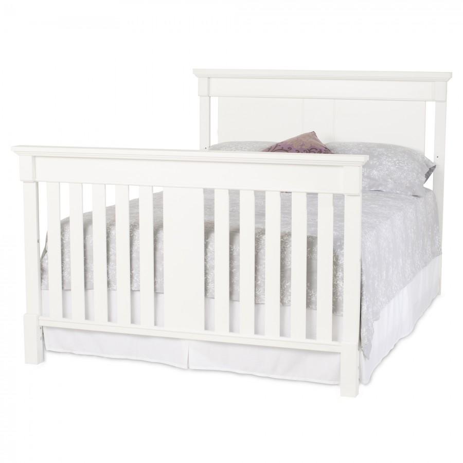 Bradford Full Size Convertible Full Bed-Matte White