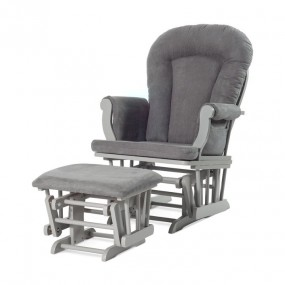 Forever Eclectic Cozy Glider and Ottoman, Cool Gray