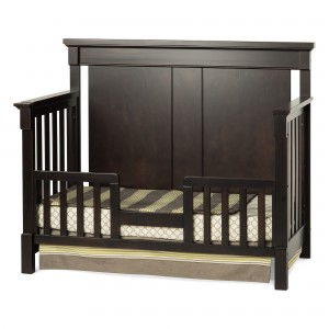 Bradford Full Size Convertible Toddler Bed-Rich Java