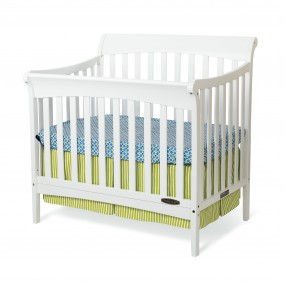 Coventry Mini Convertible Child Craft Crib Matte White