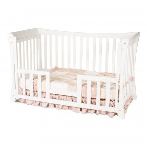 Parisian Traditional Child Craft Crib Matte White Toddler Bed