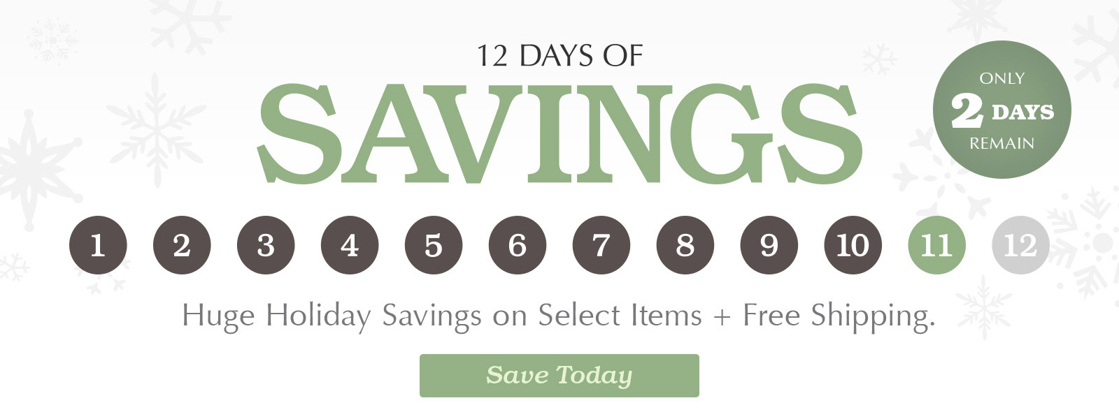 Shop our 12 Days of Savings