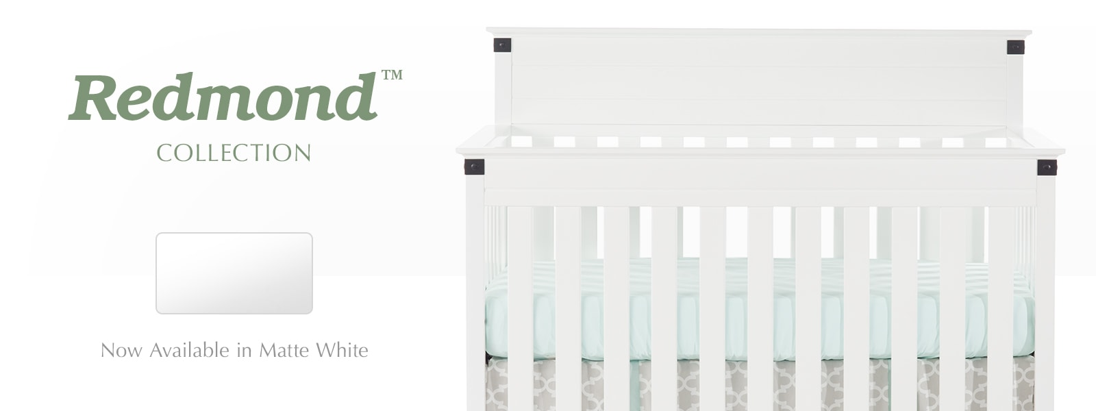 Baby cribs london ontario - Redmond Convertible Crib Now Available In Matte White